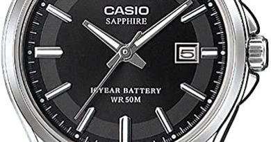 Montre femme Casio Collection LTS-100L-1AVEF – Verre saphir, 5 atm, 29 mm