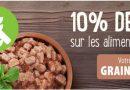 10% de réduction sur les aliments sans céréales dès 49 € d'achat
